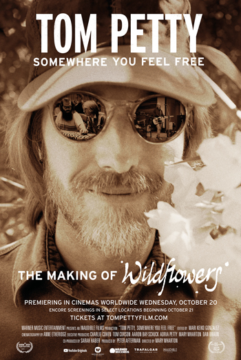 Tom Petty: Somewhere You Feel Free - in theatres 10/20/2021